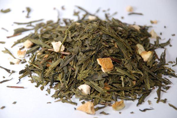 Billede af Grøn te m/citron 1 Kg.