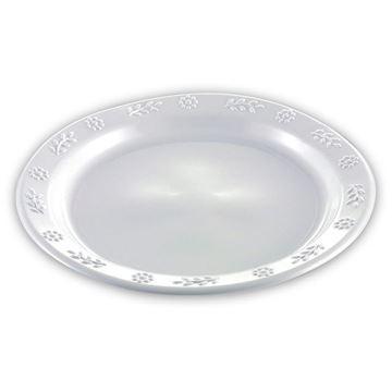 Billede af Tallerken flad hvid plast 23 cm<br/> 500 stk