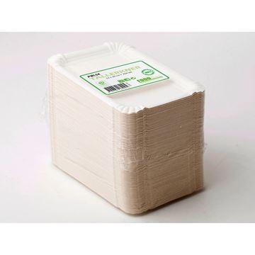 Billede af Pølsebakke hvid pap<br/> 500 stk