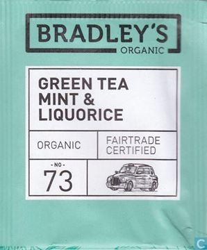 Billede af Bradley's Te breve Grøn te m/mint & lakrids Økologisk.<br/>100 breve.