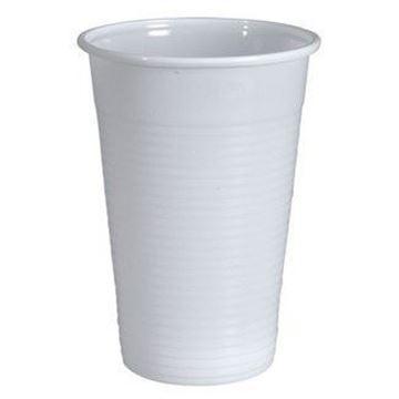 Billede af Drikkebæger/automatbæger<br/> 20 cl x 3000 stk<br/> hvid plast