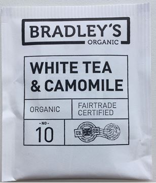 Billede af Bradley's Te breve Hvid te<br/>m/kamilleblomst<br/> Økologisk.<br/>100 breve.
